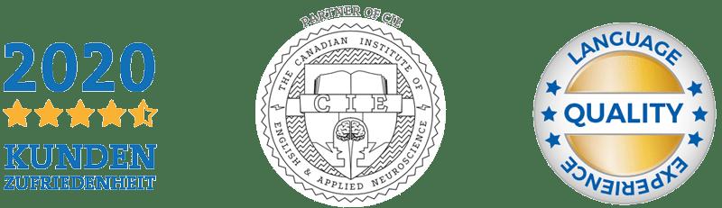 Auszeichnungen der NELA Sprachschule für Kundenzufriedenheit und Qualität
